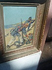 American Oil Painting-Men at War ca 1910 Sgnd