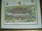 Early 117thc Map of Seville Spain antique
