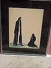 Hungarian Painting-Danse Macabre-signed