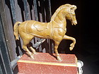 19thc Carved Wood Horse