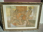 Swiss Lithograph Hans Erni Sgnd Edition Nudes