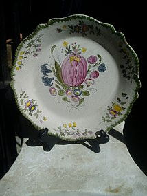 French Early 19thc Fiance Plate