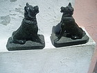 Pr 19thc Carved Marble Classic Molissian Dogs