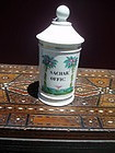 19thc French Old Paris Porcelain Apothecary Jar