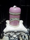 French 19thc Lge Porcelain Apothecary Jar with Dome