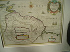 17thc Dutch Map GUIANA FIUE AMAZON H. Hondius