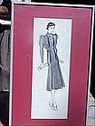 American Fashion Ink Drawing-La Chine-30s