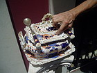Fancy English Porcelain 1860 Tureen Imari Colors