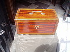 Early 19thc Regency Tea Caddy Inlaid Mahogany ca 1810