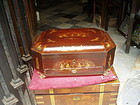 19thc Chinese Export Lacquered Sewing Box 1860s