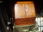 Fine English Victorian Letter Box Burl Walnut 1860s
