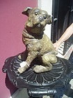 Terracotta Dog Pug ca 1900 English