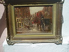 Early 20thc Spanish Oil Painting on Wood Panel