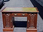English Mahogany Desk-Leather Inlay Top-1900s
