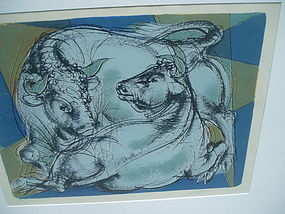 Swiss Hans Erni Lithograph Sgnd with Edition Nr