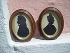 Pr Austro Hungarian Framed Silhouettes ca 1880s
