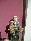 Central American St Anthony & Christ Child Santo 1880s