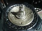Stupendous 19thc German Silver/Bronze Inkwell