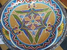 Fantastic Egyptian Revival King TuT Plate 1920s