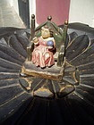 Rare Puerto Rican Christ Child on Throne