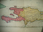 18thc Engraved Map Santo  Domingo 1779