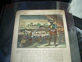 17thc Dutch Cannibal Caribbean Engraving