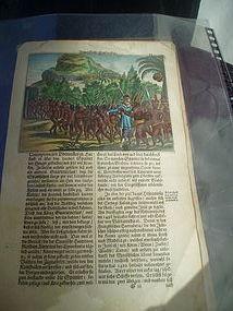 17thc Dutch Engraving Caribbean Indians & Explorer
