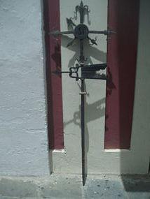 Rare Forged Iron Cross Weather Vane Puerto Rican 18thc