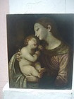 Italian Old Master Oil Painting Madonna & Child 17thc