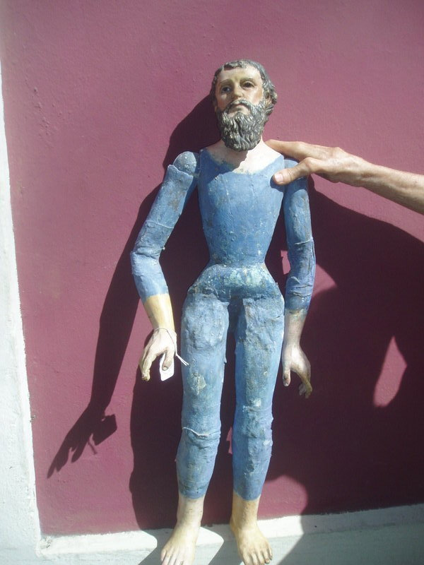 19thc Spanish Male Dress Up Saint Joseph