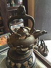 Ancient Japanese Zoomorphic Iron Water Kettle Rare Ritual
