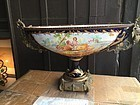 Lge Sevre French Porcelain Center Bowl Bronze Fittings ca 1900