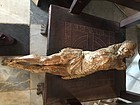 17thc European  Baroque Carved Wood Crucifix  Christ Corpus
