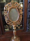 Spanish Colonial Altar Piece as Mirror Early 19thc Carved Gilt Wood