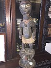 Antique East African Carved Wood Female Sculpture