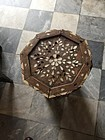 Damascus Mother of Pearl Inlay Taboret Table Ottoman Period