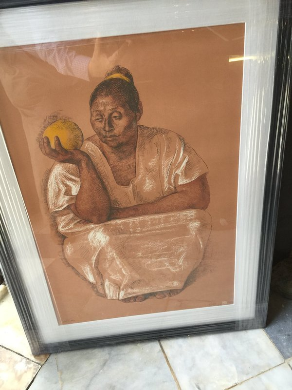 Mexican Lithograph by Zuniga Sgnd lmtd Ed dtd 1974