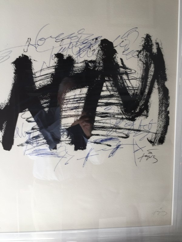 Spanish Lithograph By Antoni Tapies Ltd Ed listed Sales