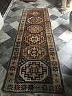 Antique Kazak Oriental Rug Runner 106 inches X 33 inches wide