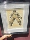 Spanish Civil War  Lithograph Unlucky Soldier Signed
