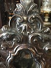 Spanish Colonial  18.5 in Silver & Wood Reliquary 1840s Marked