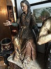 Lge Spanish Carved Wood & Gilt 17thc Santo  Mary Magdeline Impressive
