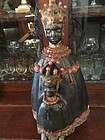 17thc Spanish Carved Black Madonna & Child- Lady of Monsarrat