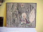 Japanese 19c Watercolor-Buddha-Sgnd