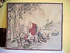 Japanese Watercolor Buddha-19thc-signed