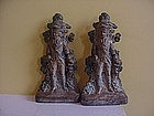 Pr Cast Iron Patriot Bookends--1880s-American
