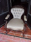 Anglo-Indian Rosewood Armchair-1870s