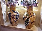 Pair Vases Chinese Made in SE Asia 100yrs