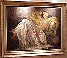 "Painting, ""Apres La Danse""  FRENCH  70yrs"