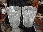 Vases, Lalique art glass